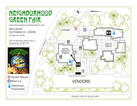 Neighborhood Green Fair Site Map -- October 2009